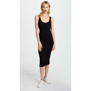 NEW Enza Costa Rib Tank Midi Dress in Black Small